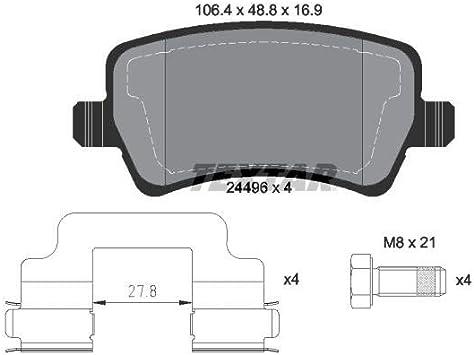 Textar Original Bremsbelagsatz Scheibenbremse Hinterachse Auto