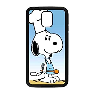 snoopy green Samsung Galaxy S5 Cell Phone Case Black Phone cover T7398030