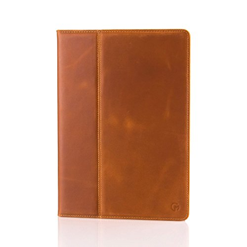 Casemade iPad 2017/2018 9.7 (5th / 6th Gen) Case/Cover Real Italian Cowhide Leather/Slim Fit Folio for The iPad 2017 / iPad 2018 (Tan)