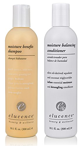 Elucence Moisture Benefits Shampoo and Balancing Conditioner Set, 10 Ounce Moisture Balancing Shampoo