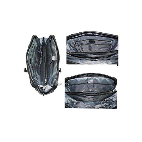 Katana - cartable porte-ordinateur 15 Cuir vachette graine - Noir
