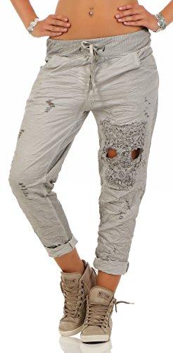 Mississhop Para Gris In Eu Hergestellt Mujer Pantalón 6r61zwq