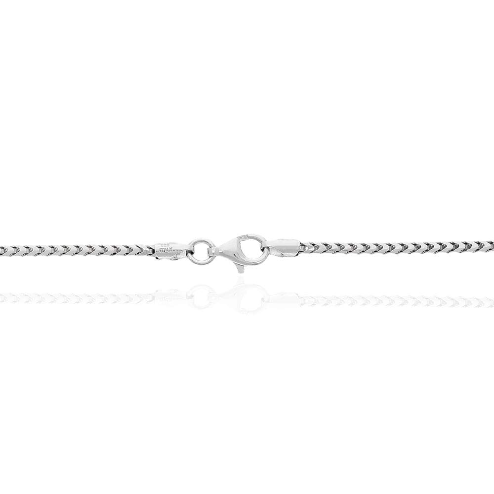 925 Sterling Silver 1.8mm Franco Chain Necklace 16 18 20 22 24 26 28 28