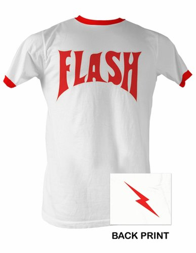 A&E Designs Flash Gordon Comic Superhero Hero Ringer T-Shirt, XL White]()