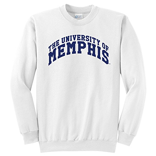 NCAA Memphis Tigers University Classic Crewneck Sweatshirt, Small, White (Tiger Sweatshirt Classic)
