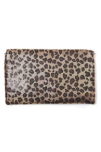 collezione alessandro - Cartera de mano para mujer Amarillo leopardo Talla única: Amazon.es: Zapatos y complementos