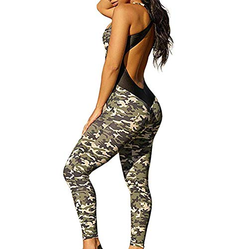 Yoga Pants for Women, High Waisted Ruched Butt Lift Leggings Camo Stretchy Jumpsuits for Gym Tummy Control (Camo, L)