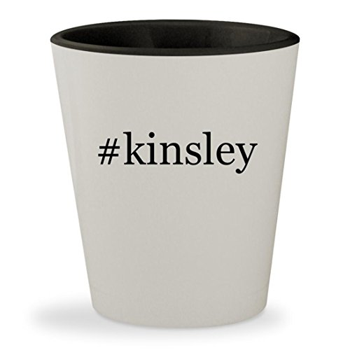 #kinsley - Hashtag White Outer & Black Inner Ceramic 1.5oz Shot Glass - Macgregor Jack