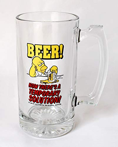 (Universal Studios The Simpson Homer Simpson Beer! Now There's A Tall Glass Mug)