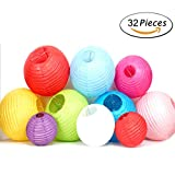 GPARK 36PCS Rainbow Color Paper Lanterns 4 Colors, (Multicolor, Size of 4'', 6'', 8'', 10'') for Wedding Birthday Party Graduation Home Decoration