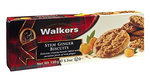 Walkers Shortbread Stem Ginger Biscuits, 5.3-Ounce Boxes (Count of 6) (Snap Card Expansion)