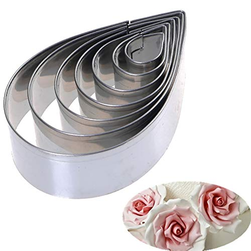 WYP Christmas Cookie Cutter Set-7Pcs / Set Cookie Cutters DIY Pastry Fondant Stamping Mold Rose Petal Sugar Crafts Cookie Cutter Chocolate Cake Decorating Tools