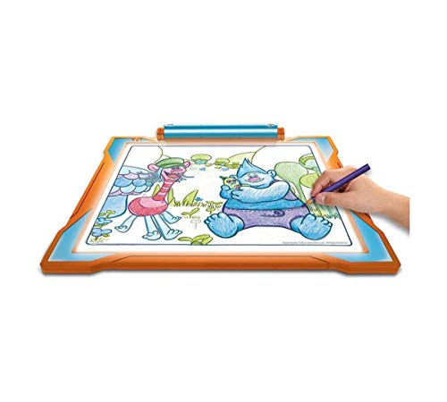 Large Product Image of Crayola Trolls Light-Up Tracing Pad, Coloring Board Kids, Gift, Toys Girls, Ages 6, 7, 8, 9