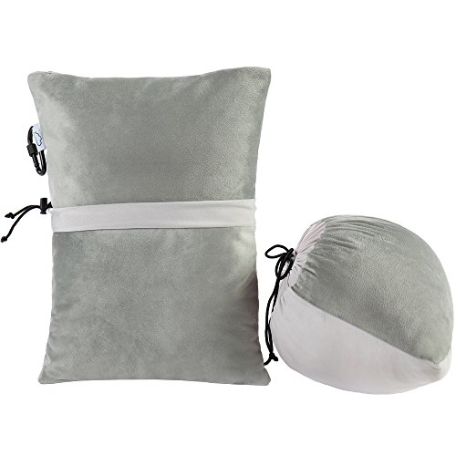 Anywhere Comfort Memory Foam (Modvel Compact Travel Outdoor Pillow - Compressible Shredded Memory Foam for Comfort and Neck Support - Great for Adults, Kids, Camping, Air Travel, Road Trips, and More! Take Anywhere! S (MV-107))