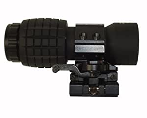 Scorpion Armaments SA-MG3 3X Magnifier, Quick Release, Mounts to all Picatinny/Weaver Rail - Sold by 22mods4all - Free Shipping