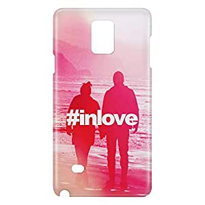 Loud Universe Galaxy Note 4 Hashtag In Love Print 3D Wrap Around Case - Multi Color