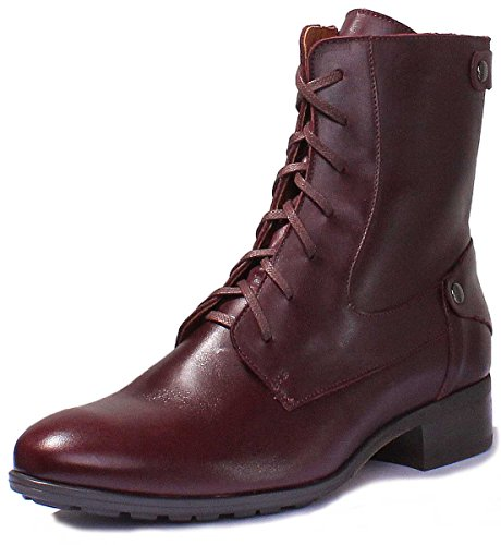 Matt Military 4900 Women Boots Burgundy Leather Justin Black Reece BqICAA