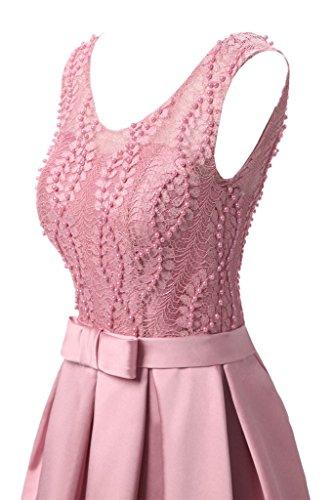 Satén Fiesta fijo ressing punta Mujer noche Elegante de de para amp; Línea Rosa Vestido vestido vestido Prom largo ivyd A 164xdnx7
