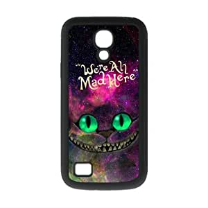 Nebula Galaxy Space Cheshire Cat Rubber Cell Cover Case for SamSung Galaxy S4 Mini i9192/i9198