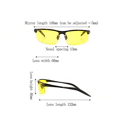 Silver Título Driving Decorativo Driver Safe Gafas Lens Antideslumbrante frame Gold Espejo Polarized Color Night HD frame Vision rxO1qrg