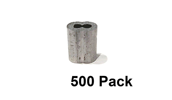 50 1//8 Wire Rope Aluminum Cable CLAMP Double Barrel Snare Swage Connectors by The ROP Shop