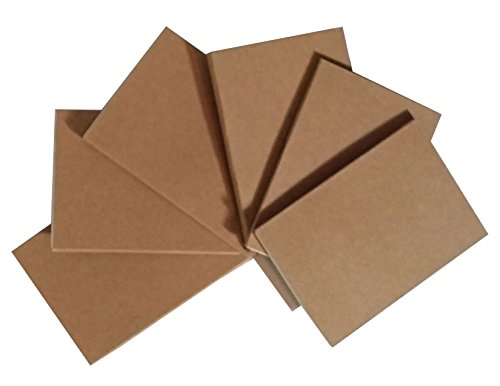 Mini Journal - Notepads with Kraft Paper Covers (4.5 x 3 Mini Notebooks Set of 6)
