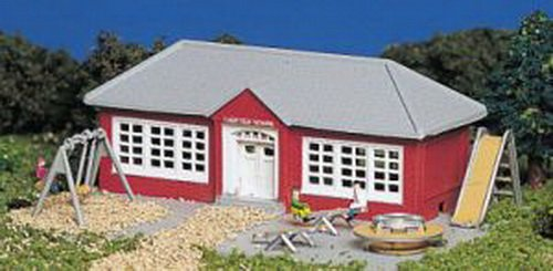 Scale Schoolhouse (Bachmann Schoolhouse With Equipment - N Scale)
