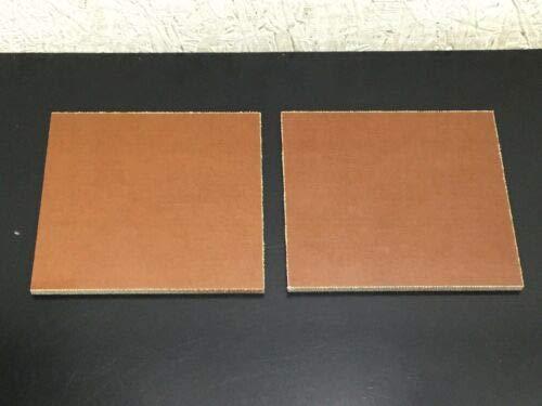 2 Pcs of Natural Brown Canvas Micarta Sheet Knife Blank Pistol Grip