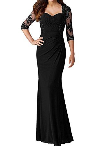 Promkleid Lang Arm 4 3 Damen Ivydressing Abendkleider Partykleid Spitze Schwarz Elegant Festkleid R0q8WxOU