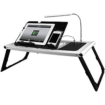 Amazon Com Ivation Adjustable Lap Desk Foldable Smart