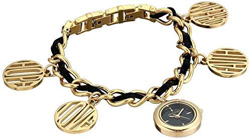 Anne Klein Women's AK/3436GPCH Gold-Tone Charm Bracelet Watch (Ak Anne Klein Gold Charm Bracelet)