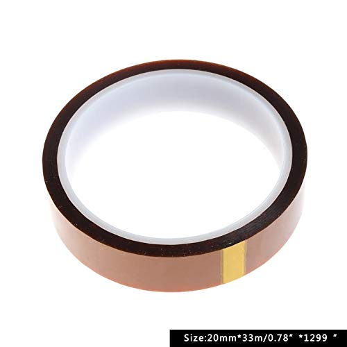 Tape - Polyimide Heat Resistant Temperature Adhesive Tape Film 20mmx33m - Drive Both Auto Tool Cool Necklace Fine Hose Entry Film Double Ribbon Polyimide Lever Tape Caliper Wall Doors Door