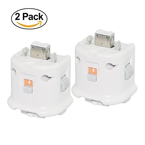 AITOO Motion Plus Adapter - [2 Pack] External Remote Motion Plus Sensor Controller Adapte for Wii Wii U Remote Controller -White - Sensor Controller
