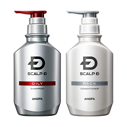 Angfa Scalp D Medicinal Shampoo for Men Oily skin set (Shampoo & Conditioner) 350ml 2019 Japan