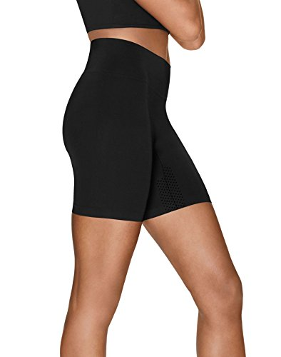 Hanes Perfect Bodywear Seamless Short Panty (HST006) L/Black - Hanes Perfect Womens Panties