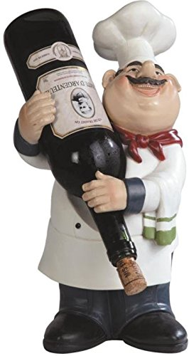 George S. Chen Imports SS-G-65009 Chef Wine Holder, 14.25