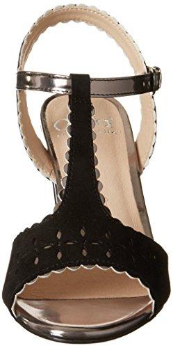 De peigne Noir Justice Femmes 28305 Noires Sandales Des De Poursuivre Talons En Caprice Coin OIxUqvUz