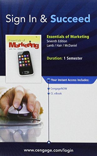 CengageNOW Printed Access Card for Lamb/Hair/McDaniel's Essentials of Marketing, 7th