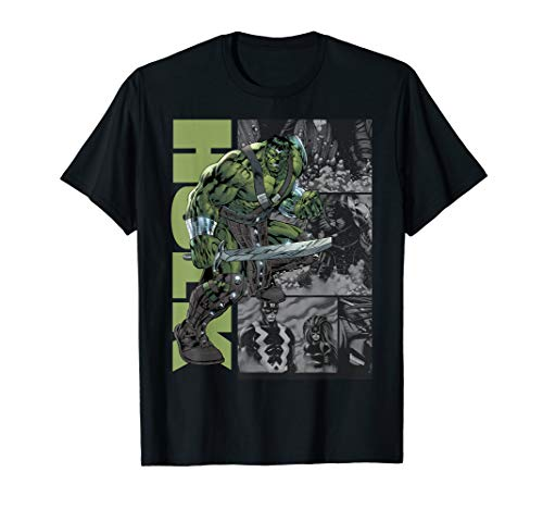 Marvel Planet Hulk Metal Arm Sword on Panels T-Shirt ()