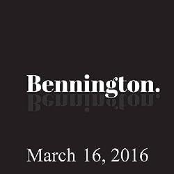 Bennington, March 16, 2016