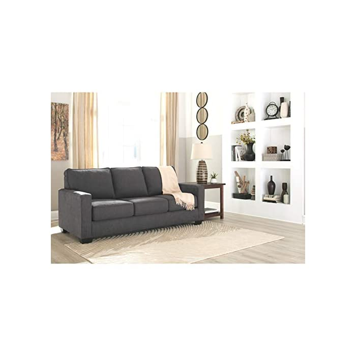 Awe Inspiring Signature Design By Ashley Zeb Queen Size Contemporary Sleeper Sofa Charcoal Evergreenethics Interior Chair Design Evergreenethicsorg