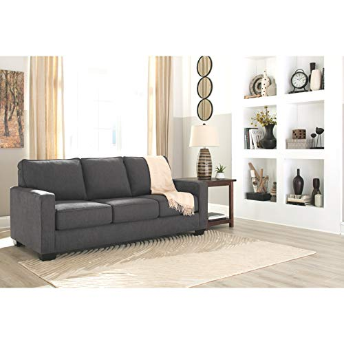 Signature Design by Ashley - Zeb Queen Size Contemporary Sleeper Sofa,  Charcoal |