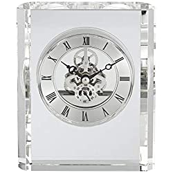 Dahlia Studios Aimee 6 High Rectangular Crystal Table Clock