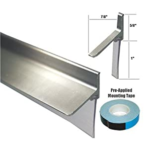 Chrome Framed Shower Door Replacement Bottom Deflector with Vinyl ...