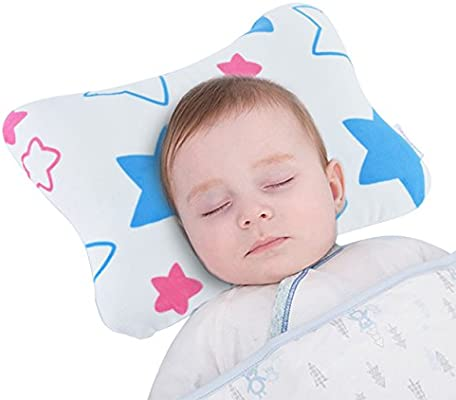 Baby Wishes Baby Pillow Prevents Flat Head for New Born Ultra Soft comfort NEW