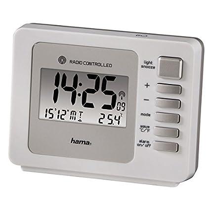 Hama Fashion Plus - Radio despertador (con dos alarmas, con sensor de movimiento)