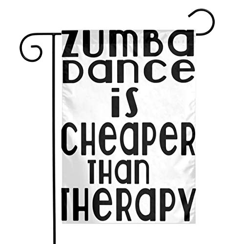 Zumba Dance is Cheaper Than Therapy Candy Jar Garden Yard Flag Welcome House Flag Banners for Patio Lawn Outdoor Season Home Decor]()