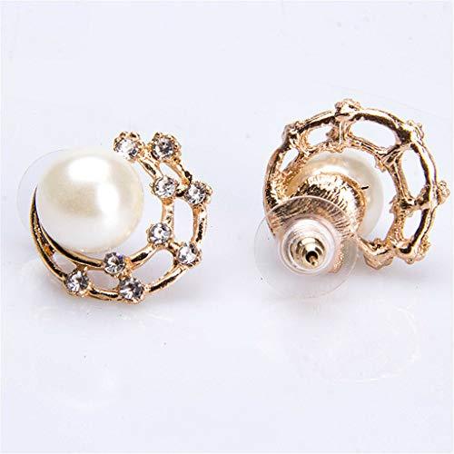 - Luxury Girls Rhinestone Faux Pearl Stud Earrings for Bridal Wedding Gifts Necklace Jewelry Crafting Key Chain Bracelet Pendants Accessories Best