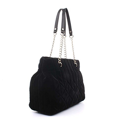 CafèNoir LBA001 Bolso Shopper Mujer Negro
