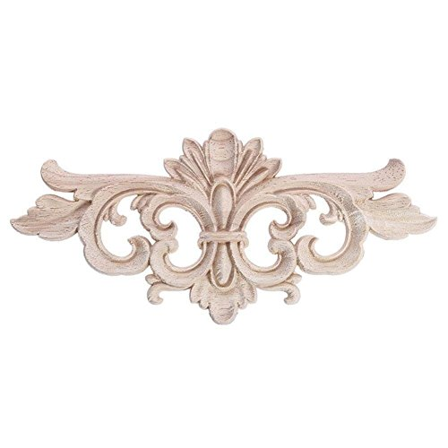European Style Wood Carved Corner Applique Unpainted Furniture Decoration